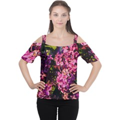 Lilacs Women s Cutout Shoulder Tee