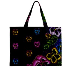 Floral Rhapsody Pt 1 Zipper Mini Tote Bag