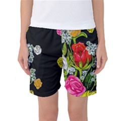 Floral Rhapsody Pt 4 Women s Basketball Shorts
