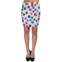 Colorful concentric circles              Bodycon Skirt