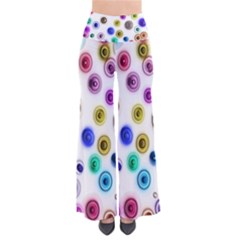 Colorful Concentric Circles        Women s Chic Palazzo Pants