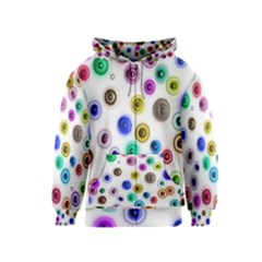 Colorful concentric circles              Kids Zipper Hoodie
