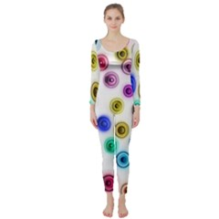 Colorful concentric circles        Long Sleeve Catsuit
