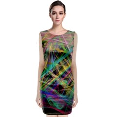 Colorful Laser Lights                  Classic Sleeveless Midi Dress