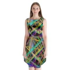 Colorful laser lights        Sleeveless Chiffon Dress