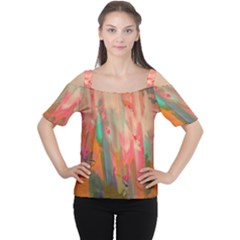 Painting              Women s Cutout Shoulder Tee