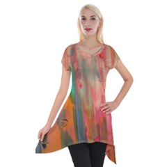 Painting              Short Sleeve Side Drop Tunic