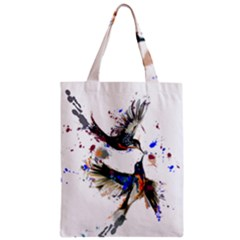 Colorful Love Birds Illustration With Splashes Of Paint Zipper Classic Tote Bag
