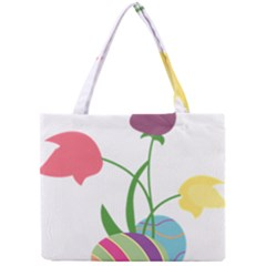 Eggs Three Tulips Flower Floral Rainbow Mini Tote Bag