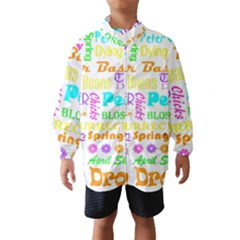 Easter Subway Blossoms Color Rainbow Chocolate Wind Breaker (Kids)