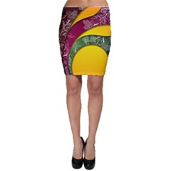 Flower Floral Leaf Star Sunflower Green Red Yellow Brown Sexxy Bodycon Skirt