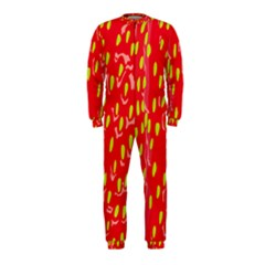 Fruit Seed Strawberries Red Yellow Frees Onepiece Jumpsuit (kids)