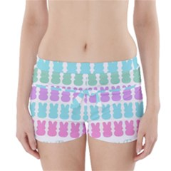 Happy Easter Rabbit Color Green Purple Blue Pink Boyleg Bikini Wrap Bottoms