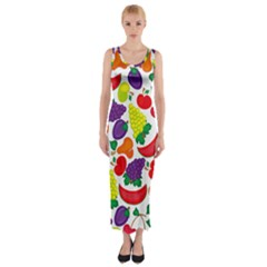Fruite Watermelon Fitted Maxi Dress