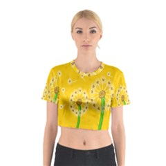Leaf Flower Floral Sakura Love Heart Yellow Orange White Green Cotton Crop Top