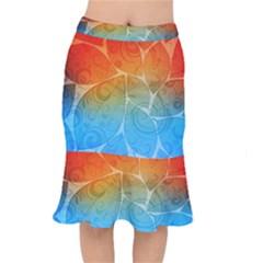Leaf Color Sam Rainbow Mermaid Skirt
