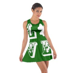 Parks And Tally Love Printable Green Cotton Racerback Dress