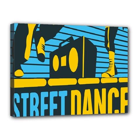 Street Dance R&b Music Canvas 16  x 12