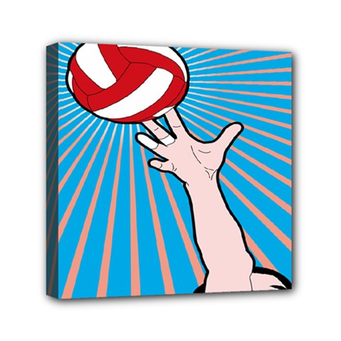 Volly Ball Sport Game Player Mini Canvas 6  x 6