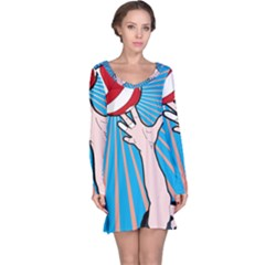 Volly Ball Sport Game Player Long Sleeve Nightdress
