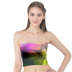 Plaid Star Light Color Rainbow Yellow Purple Pink Gold Blue Tube Top