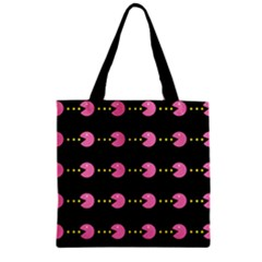 Wallpaper Pacman Texture Bright Surface Zipper Grocery Tote Bag