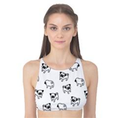 Pug dog pattern Tank Bikini Top