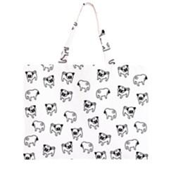 Pug dog pattern Large Tote Bag