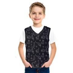 Black Cats And Witch Symbols Pattern Kids  Sportswear