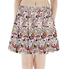 Colorful Abstract Floral Background Pleated Mini Skirt