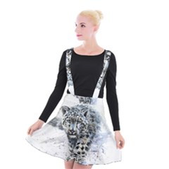Snow Leopard  Suspender Skater Skirt