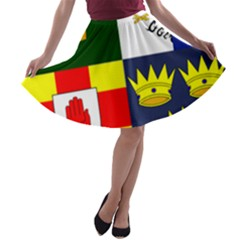 Arms of Four Provinces of Ireland  A-line Skater Skirt