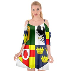 Arms Of Four Provinces Of Ireland  Cutout Spaghetti Strap Chiffon Dress