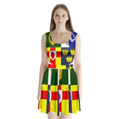 Arms of Four Provinces of Ireland  Split Back Mini Dress