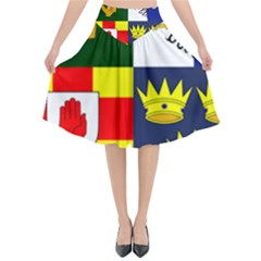 Arms Of Four Provinces Of Ireland  Flared Midi Skirt