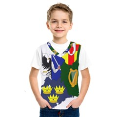 Flag Map Of Provinces Of Ireland  Kids  Sportswear