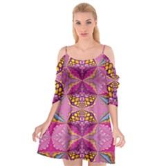 Cutout Spaghetti Strap Chiffon Dress