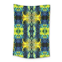 Mystic Yellow Green Ornament Pattern Small Tapestry