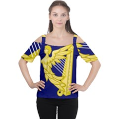 Royal Standard Of Ireland (1542 1801) Women s Cutout Shoulder Tee