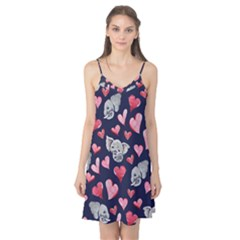Elephant Lover Hearts Elephants Camis Nightgown