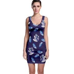 Mystic Crystals Witchy Vibes  Sleeveless Bodycon Dress