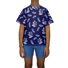 Mystic Crystals Witchy Vibes  Kids  Short Sleeve Swimwear