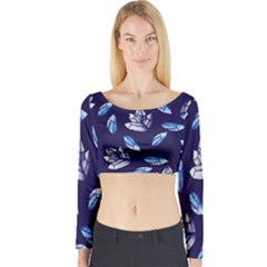 Mystic Crystals Witchy Vibes  Long Sleeve Crop Top