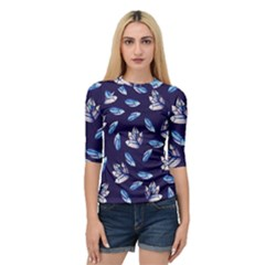 Mystic Crystals Witchy Vibes  Quarter Sleeve Tee