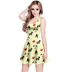 Light Yellow Dogs Reversible Sleeveless Dress