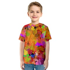 Colorful shapes             Kid s Sport Mesh Tee