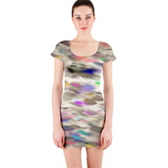 Colorful watercolors           Short sleeve Bodycon dress