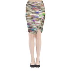 Colorful watercolors     Midi Wrap Pencil Skirt