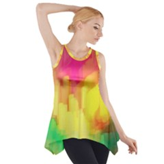 Pastel shapes painting            Side Drop Tank Tunic