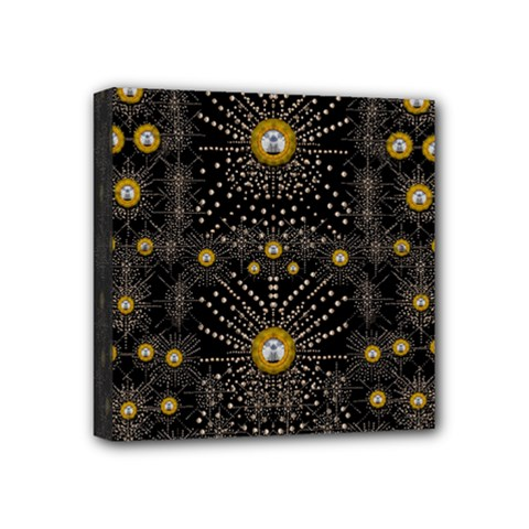 Lace Of Pearls In The Earth Galaxy Pop Art Mini Canvas 4  x 4